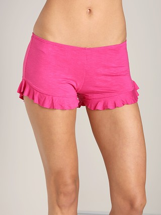 Indah Bounce Slub Frill Short Hot Pink
