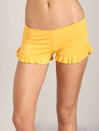 Indah Bounce Slub Frill Short Orange