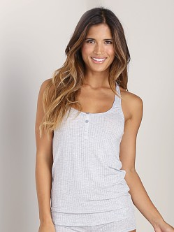 Splendid Rib Racerback Tank Heather Grey