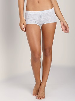 Splendid Rib Boyshort Heather Grey
