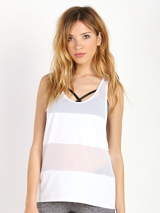 Complete the look: SOLOW Jersey Mesh Tank White