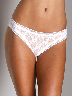 Only Hearts Stretch Lace Thong White