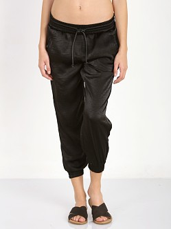 SOLOW Crinkle Drawstring Jogger Black
