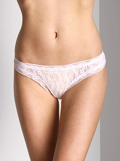 Only Hearts Stretch Lace Thong Rose Water