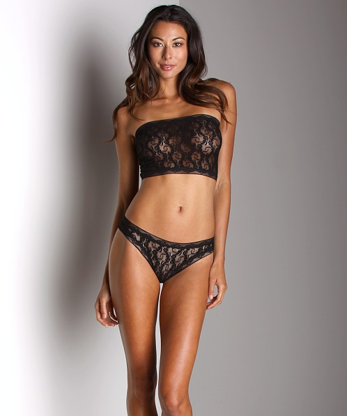 Only Hearts Stretch Lace Thong Black