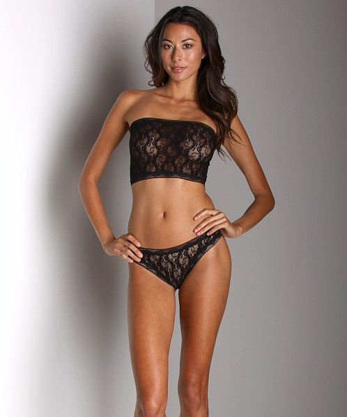 Only Hearts Stretch Lace Long Bandeau Black