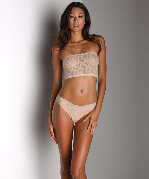 Only Hearts Stretch Lace Long Bandeau Nude