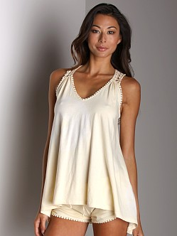 Wendy Glez Racer Back Tank Tunic Butter