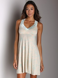 Wendy Glez Racerback Chemise Birds Egg Green