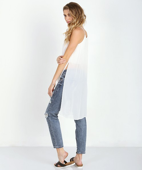 Line & Dot The Silver Factory Long Tank White