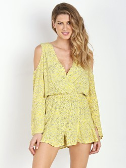 Line & Dot Shannon Romper Gold Bentonite
