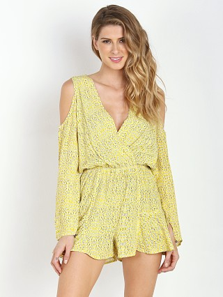 Model in gold bentonite Line & Dot Shannon Romper