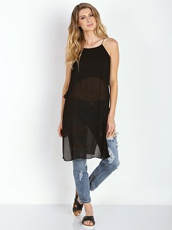 Line & Dot The Silver Factory Long Tank Black