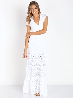 Nightcap Spanish Lace Deep V Gown White