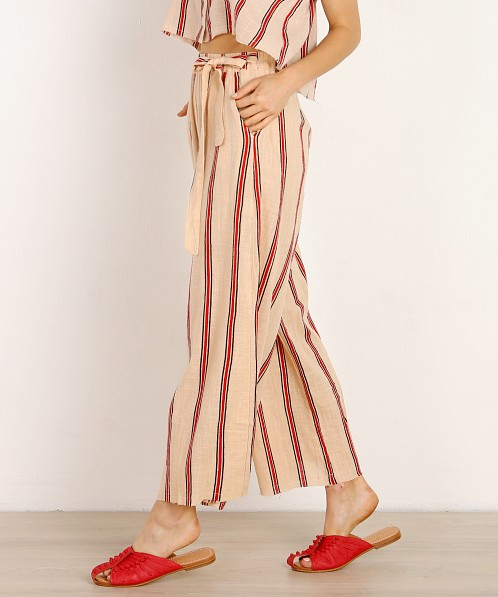 Rue Stiic Lombard Pant Sand Red Stripe