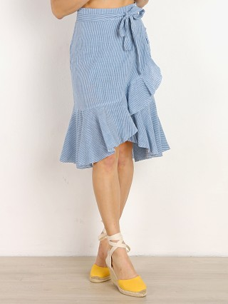 Model in french blue stripe Rue Stiic Monterey Skirt