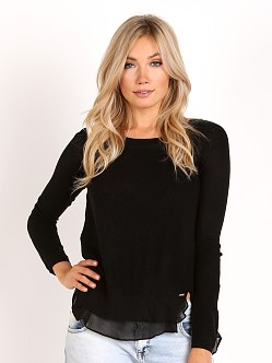 Line & Dot Baldwin Long Sleeve Top Black