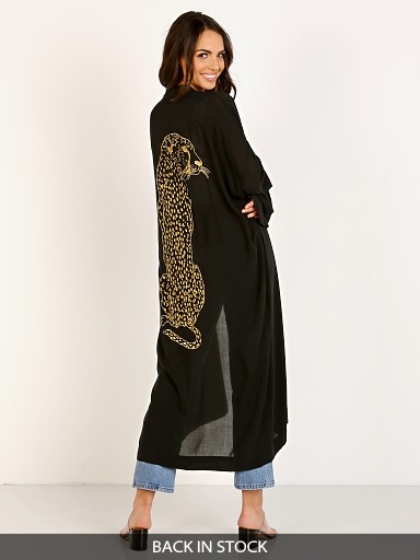 Novella Royale The Anniversary Robe Black + Gold Embroidery