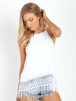 Show Me Your Mumu Trim Top White Crisp