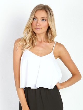 Model in white crisp Show Me Your Mumu Charlie Crop