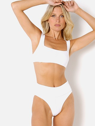 Model in white BOUND by Bond-Eye The Brando Bikini Top