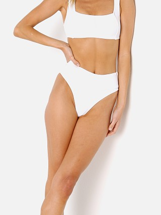 Model in white BOUND by Bond-Eye The Carey Bikini Bottom Brief