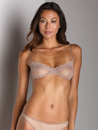 Only Hearts Whisper Underwire Bra W/Lace Oyster