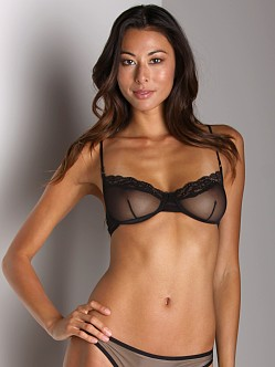 Only Hearts Whisper Underwire Bra W/Lace Black