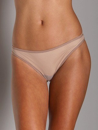 Only Hearts Whisper Thong W/Lace Oyster