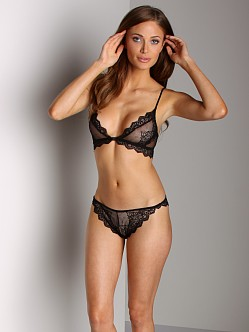 Only Hearts So Fine Lace Thong Black