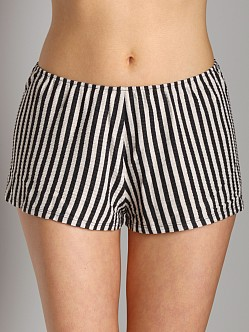 Only Hearts Poor Boy Striped Tap Pants Charcoal Stripe