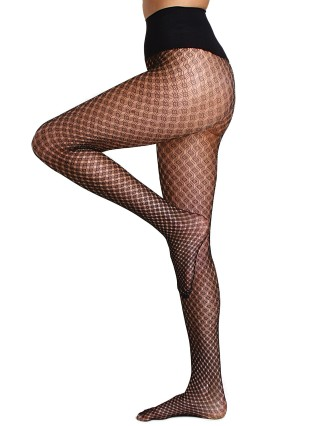 Commando Hosiery Lurex Diamond Tights Black