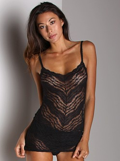Free People Mitered Lace Tank Black