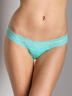 Cosabella Ever Low Rise Thong Aquamarine