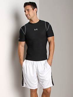 Under Armour Heatgear Vented Compression Shortsleeve T Black