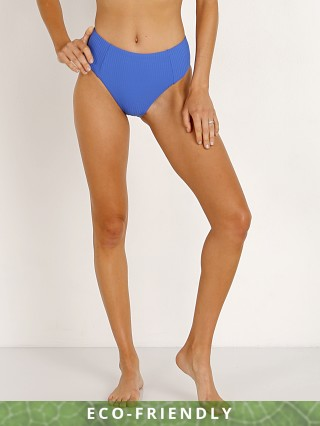 Vitamin A Sienna High Waist Bikini Bottom Beach Blue EcoRib