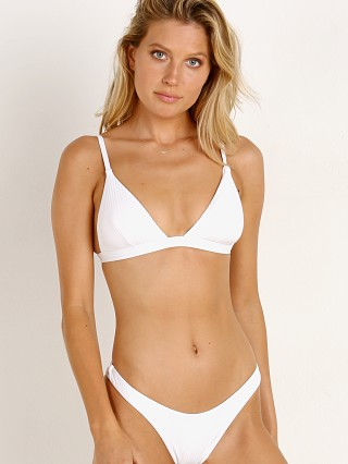Complete the look: Vitamin A Moss Bikini Top White EcoRib