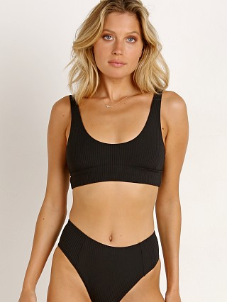 Complete the look: Vitamin A Sienna Tank Bikini Top Black EcoRib