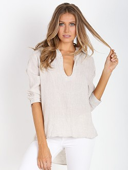 One Teaspoon Le Pure Linen Shirt Natural
