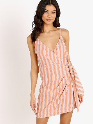 La Confection Aspen Dress Stripe Coral Sands