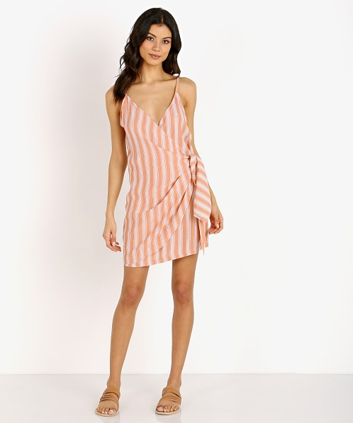 592754b755 La Confection Aspen Dress Stripe Coral Sands