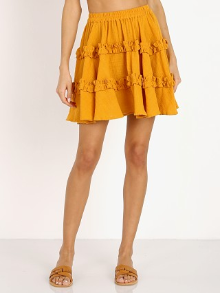 Model in plain citrus La Confection Freja Skirt