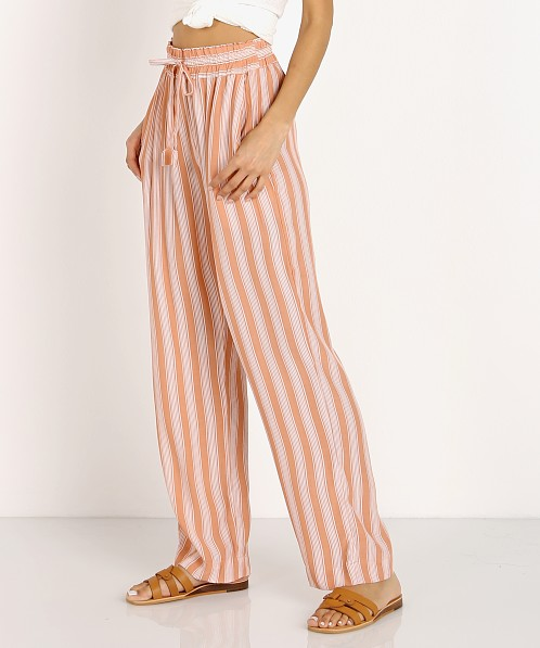 La Confection Iva Pant Stripe Coral Sands