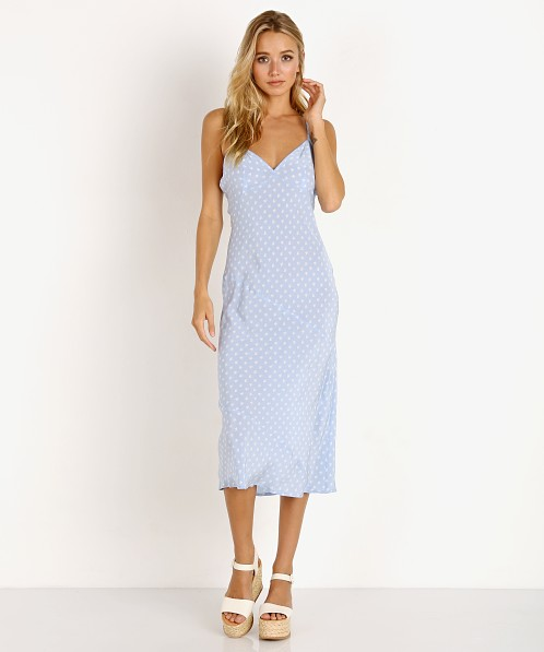 For Love & Lemons Sweetheart Midi Dress Periwinkle