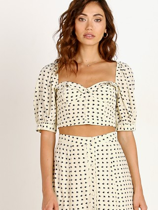 For Love & Lemons Sweetheart Crop Top Creme