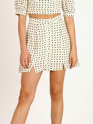 For Love & Lemons Sweetheart Mini Skirt Creme