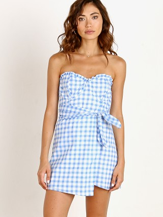 For Love & Lemons Dixie Mini Dress Blue Gingham