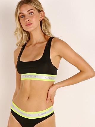 Calvin Klein Neon Cotton Stretch Bralette Black
