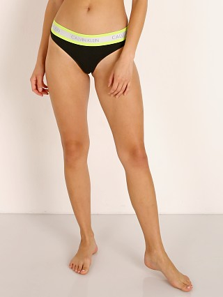 Calvin Klein Neon Cotton Thong Black