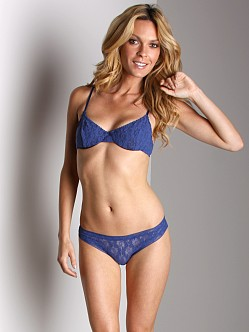 Only Hearts Stretch Lace Underwire Bra Lapis